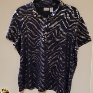 Weekends by Chico's short sleeves size 3